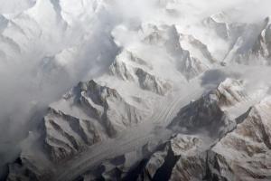 Chaîne du Tien Shang vue par la Station Spatiale Internationale